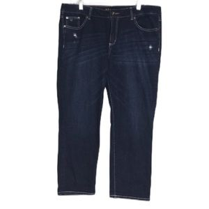 Apt. 9 Ripped Modern Relaxed Crop Distressed Jeans